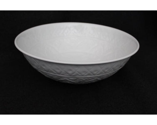 Angelique Metal Ware Serving Bowl - Large White