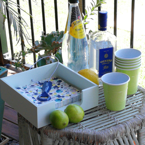 Napkin Holder with Bottle Opener -  Sunny Lime