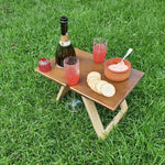 Portable Folding Picnic Table - Petite Chocolate