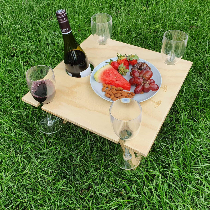 Portable Folding Picnic Table - Square Natural - Cheers
