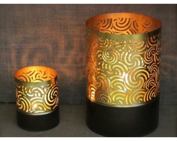Table Top Tealight Holder - Gold - Small