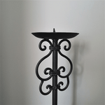 Gothic Style Candle Stick - Dark Antique Brown
