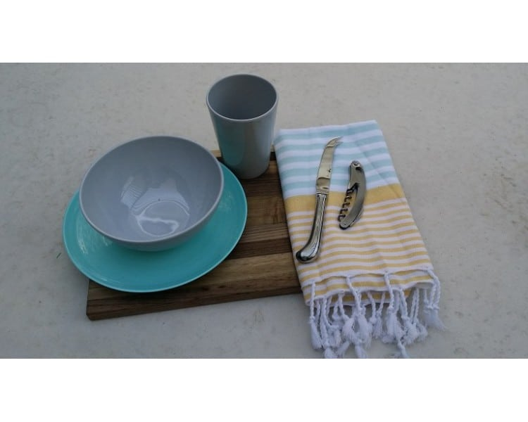 Picnic Towel - Havana Mint & Yellow