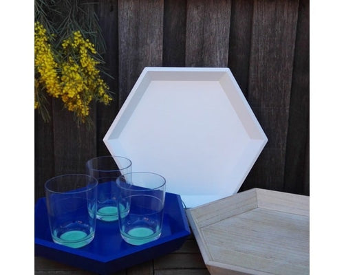 Hex Set of 3 Trays