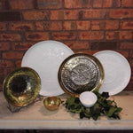 Angelique Metal Ware Platter - Large White