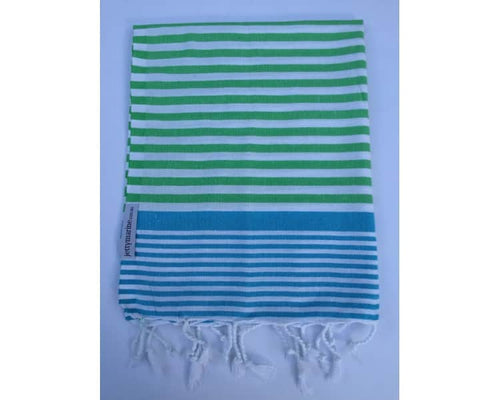 Picnic Towel - Margaux Royal Blue & Sea Green