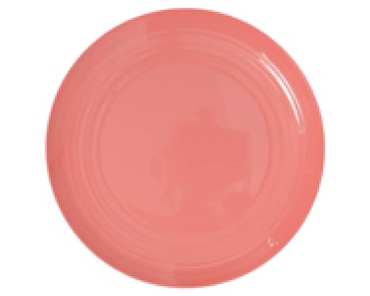 Marita Ribbed Watermelon Large Melamine Plate