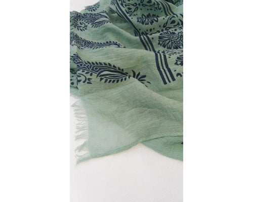 Nepal scarf - Green / Blue