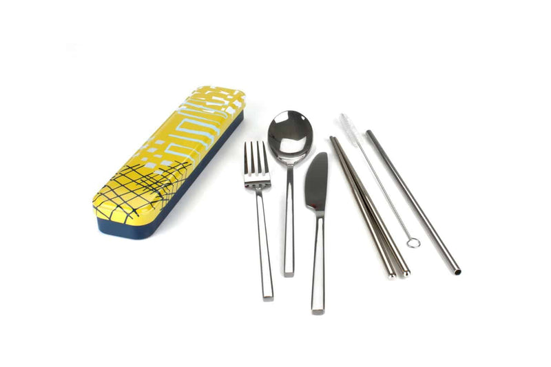 Personal Stainless Steel Cutlery Set - Abstract