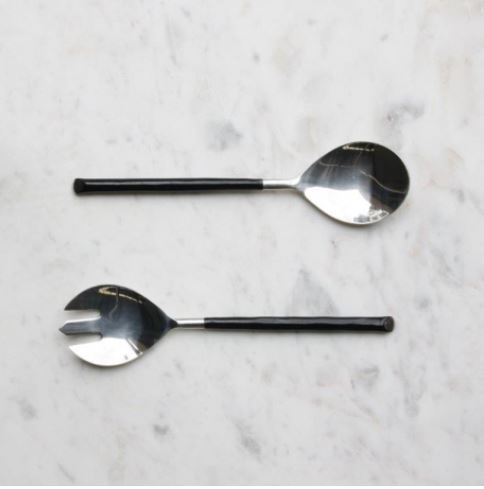 Salad Servers - Black Handle