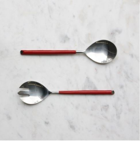 Salad Servers - Red Handle