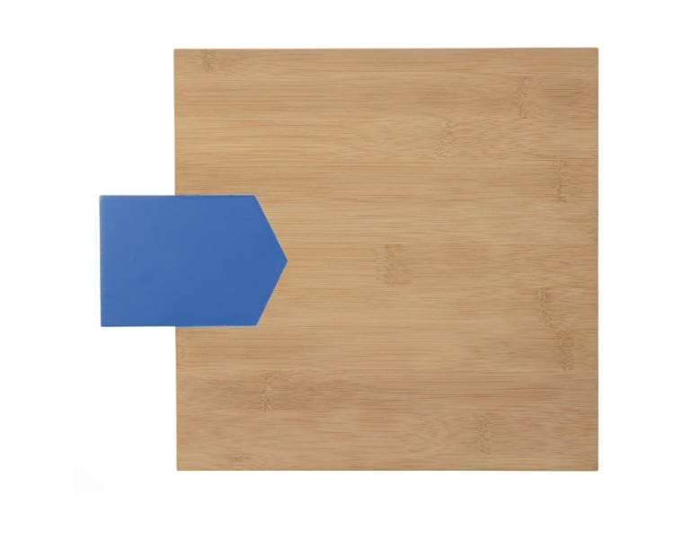 Bamboo Serving Board - Square Cobalt