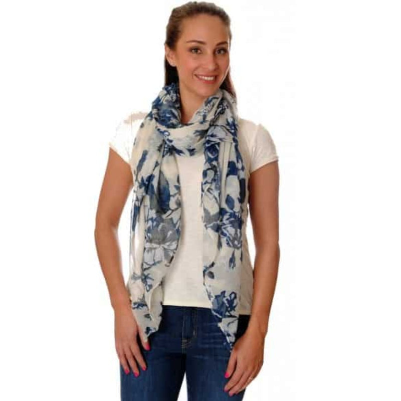 Wild Rose Scarf - Cream