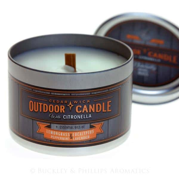 Gumleaf Outdoor Tin Candle