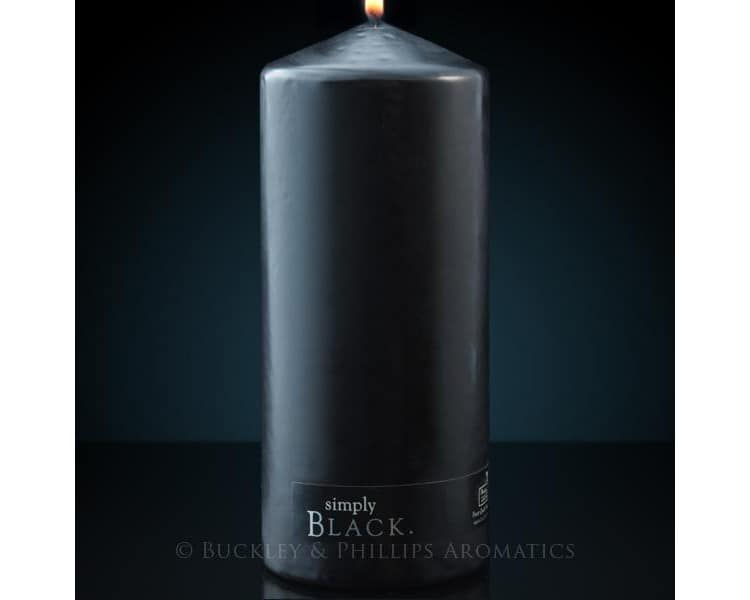 Simply pillar candle black xlarge