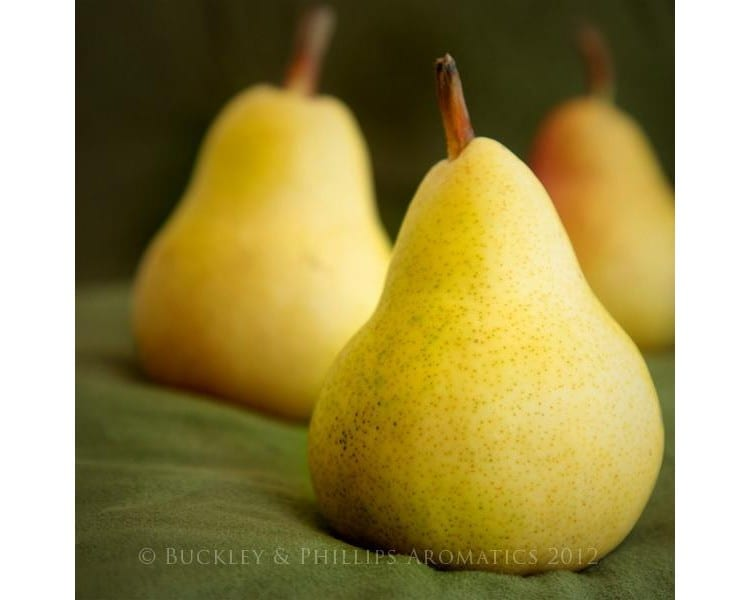 Simply pillar candle pear