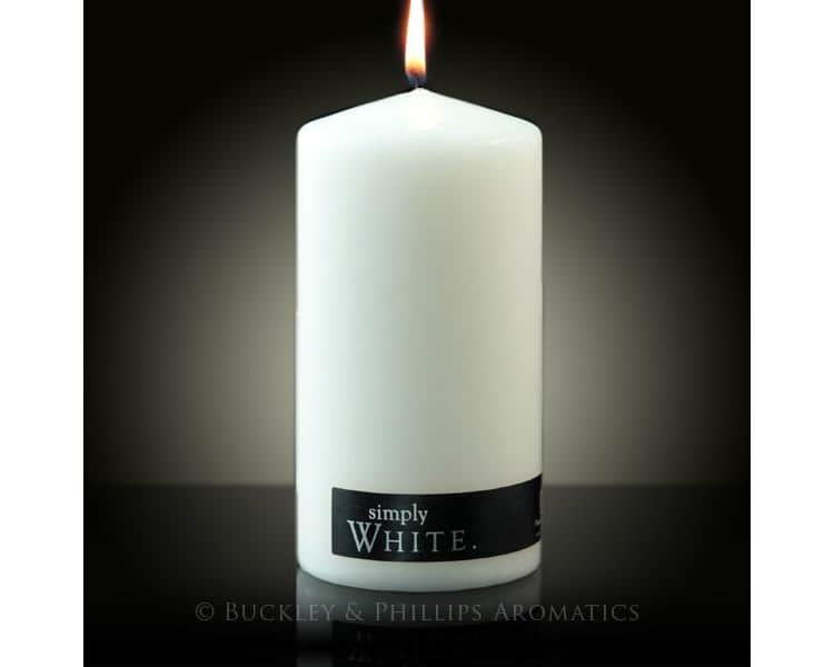 Simply pillar candle white large
