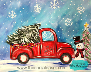 Christmas Truck with Snowman Tutorial