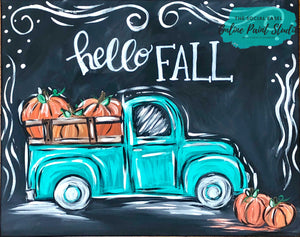 Hello Fall Truck Tutorial