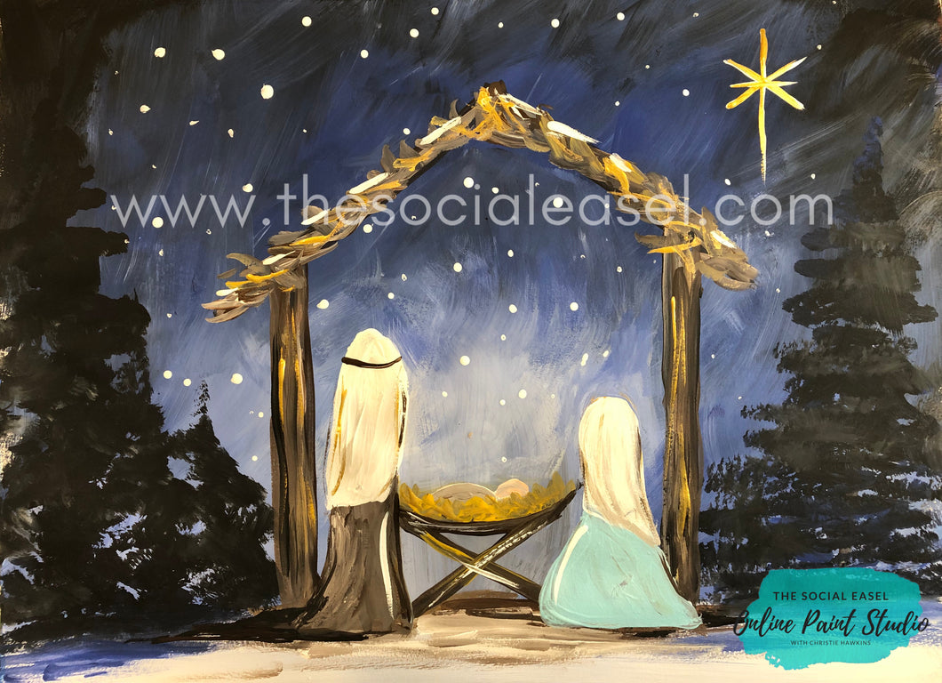 Nighttime Nativity Scene Tutorial