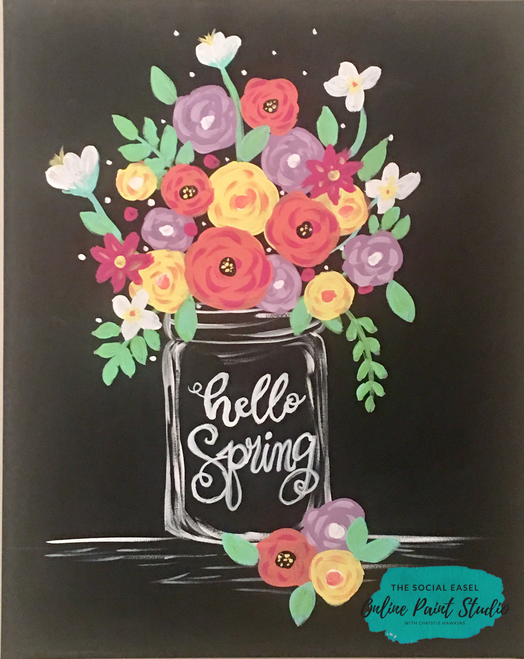 Spring Flowers in a Mason Jar Tutorial
