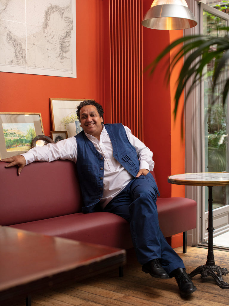 Hollington interview portrait : Nordine Labiadh dans son restaurant A Mi Chemin