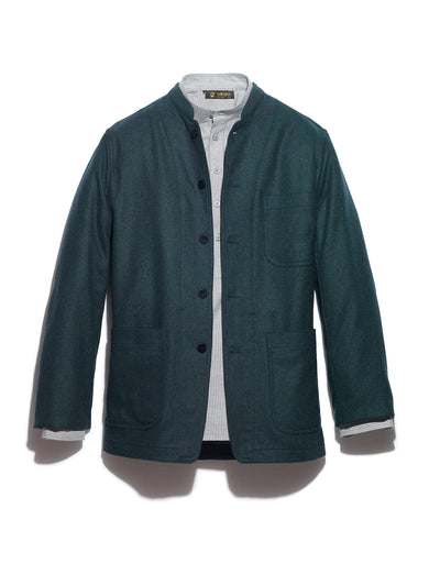 double-face english green flannel regular savoie jacket
