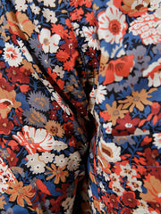 nehru-collar shirt in liberty® cotton with flowers