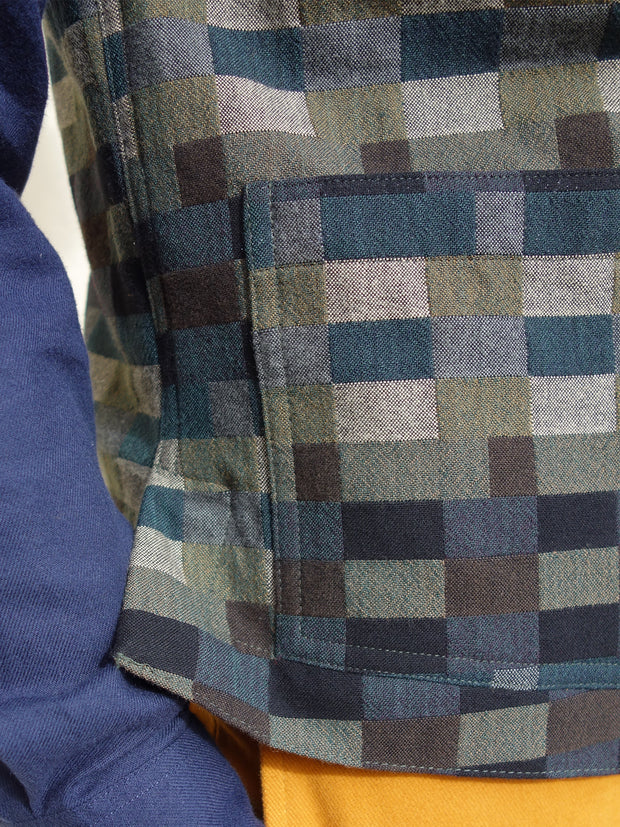 Anni Albers wool and cotton checked jacquard patch-pocket waistcoat
