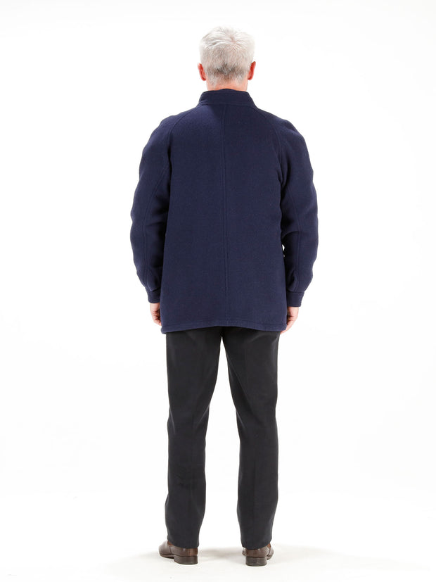 navy blue double-faced woollen cloth carteret coat jacket