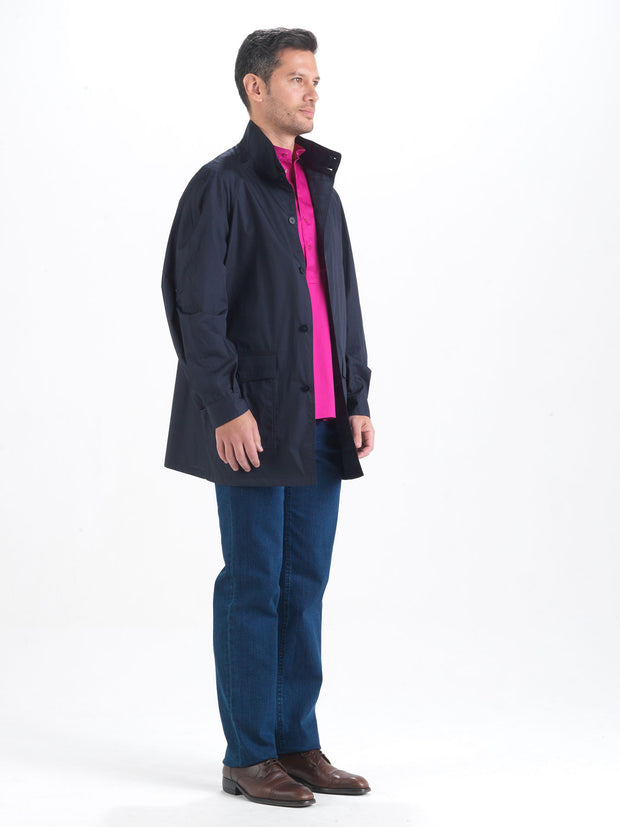 ultra-light double-sided canvas 100% water-repellent cotton carteret coat