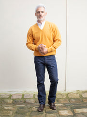 sunrise V-collar lambswool jumper
