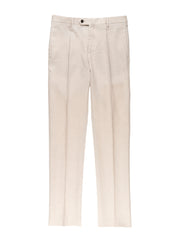 ecru pure linen canvas bari trousers
