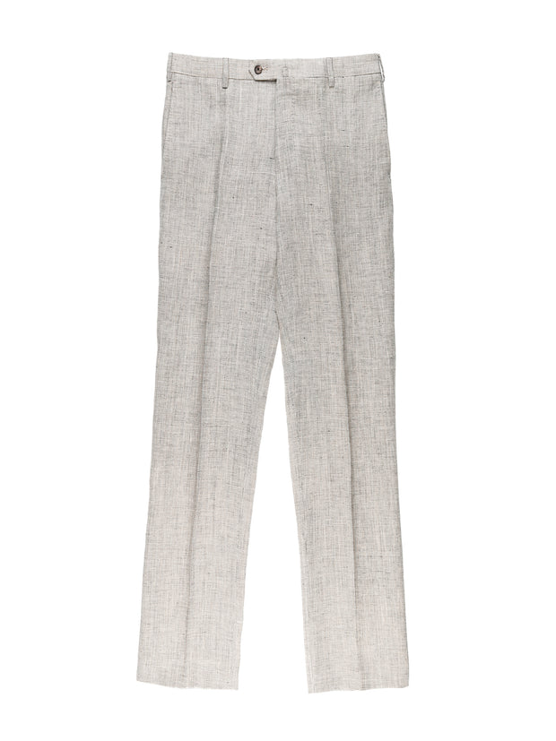 pure linen pinpoint canvas bari trousers