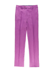 pure linen lilac canvas bari trousers