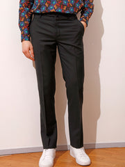 "black ""cold wool"" cloth bari slim city trousers"