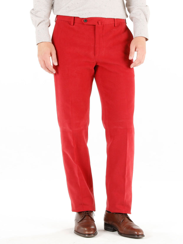 "pantalon bari en ""winter cotton"" framboise"