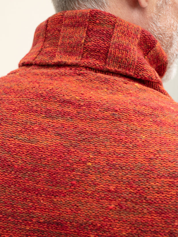 inis meáin turtleneck jumper in ochre merino wool and cashmere