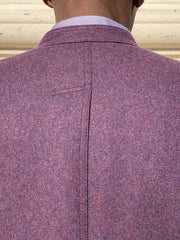 double-face purple flannel nehru-collar architect jacket