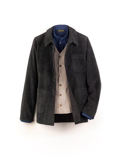 black corduroy sligo carpenter-collar jacket