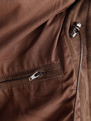 goatskin made in Italy corrib safari jacket