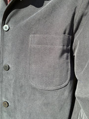 veste savoie regular à col nehru en winter cotton noir