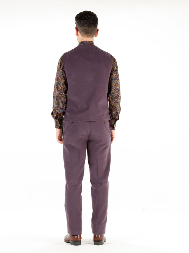 "pantalon bari en ""winter cotton"" aubergine"