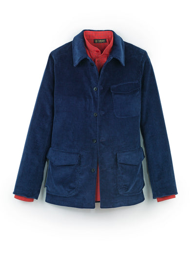 navy cordoroy wool cloth odéon carpenter-collar jacket
