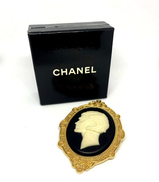 Chanel Cameo Runway Brooch