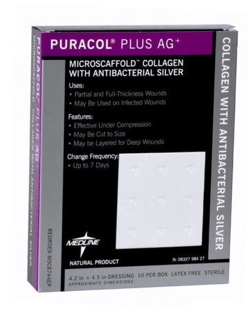 Puracol Plus AG+ Microscaffold Collagen Wound Dressing With Silver