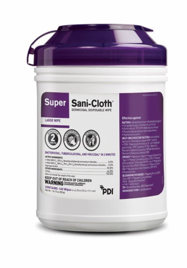 Super Sani Cloth Germicidal Disposable Wipes