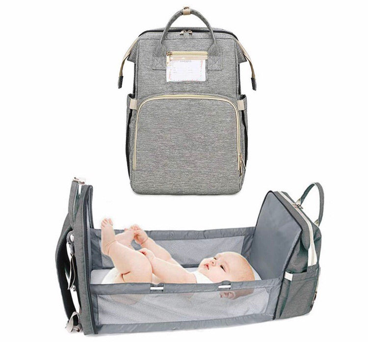 4 in 1 Diaper Backpack Bag Travel Foldable Bed