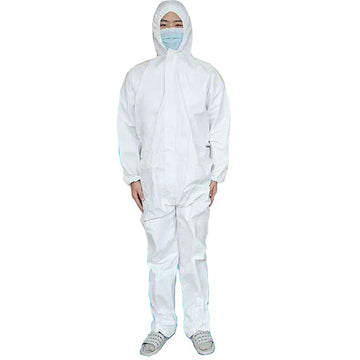 DISPOSABLE COVERALL SAFETY CLOTHING