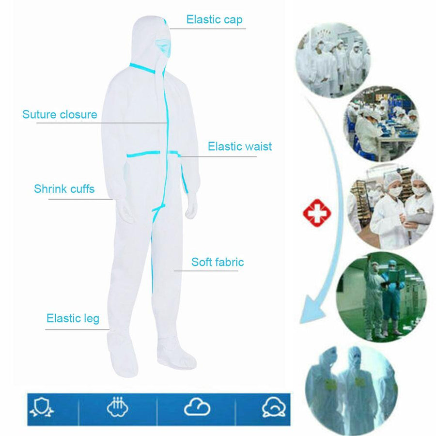 Adult disposable isolation suit